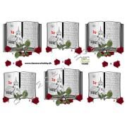 3D ark kirkehandling røde roser