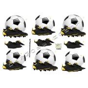 3D ark fodbold og støvler