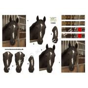 3D ark brun hest i boks