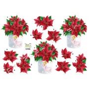 3D ark julestjerne i vase