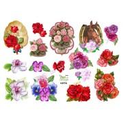 3D ark blomster med små motiver