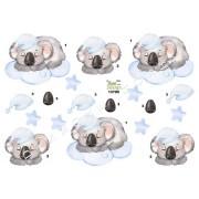 3D koalabjørn på lyseblå sky