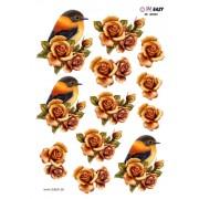 3D ark fugl og roser