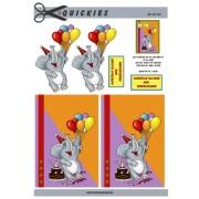 3D ark elefant med balloner
