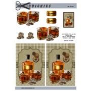 3D ark Whiskey og glas