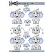 3D ark drenge elefant