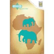 Nellie Snellen die - Elefanter 2 stk.