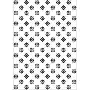 Embossing folder blomster A4