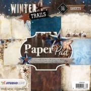 Studio Light papirblok Winter Trails 36 ark 15 x 15 cm.