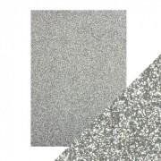 Glitter karton sølv A4 250 g.