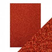 Glitter karton rød A4 250 g.