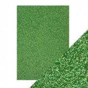 Glitter karton grøn A4 250 g.