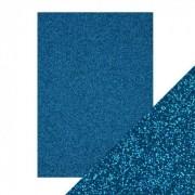 Glitter karton blå A4 250 g.