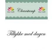 Stempel / clear stamps Tillykke med dagen