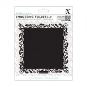 Embossing folder med blad bort