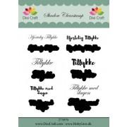 Stempel / clear stamps sæt med baggrund - Tillykke