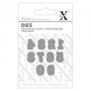 X-cut die - serif tal 0 - 9