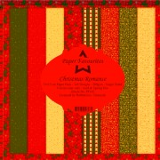 Paper Favourites papirblok Christmas Romance 24 ark 15 x 15 cm.