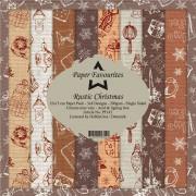 Paper Favourites papirblok Rustic Christmas 24 ark 15 x 15 cm.