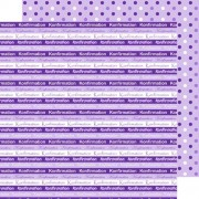 Scrapbooking papir 30.5 x 30.5 cm. konfirmation - lilla