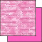 Scrapbooking papir 30,5 x 30,5 cm. pink konfirmation / marmoreret