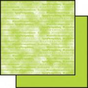 Scrapbooking papir 30,5 x 30,5 cm. lime konfirmation / marmoreret