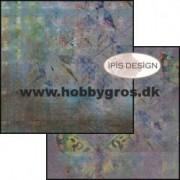 Scrapbooking papir / karton 30,5 x 30,5 cm. Summer blues