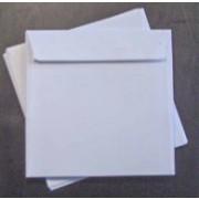 Kuvert 15,5 x 15,5 cm hvid med lige lukning