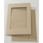 Passepartout kort 10 stk A6 firkant kvist  uden kuverter