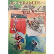 3D pyramide bog 74, 8 motiver