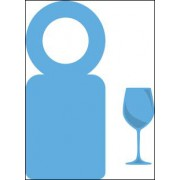 Marianne Design die - flaske label og vinglas