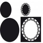 Marianne Design die - passepartout oval