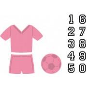 Marianne Design die - tøj, fodbold og stempel / clear stamps tal