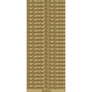 Stickers indbydelse guld 634