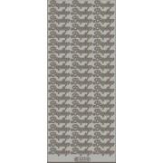 Stickers bryllup sølv 633