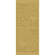 Stickers hjerter guld 2862