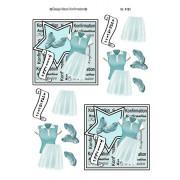 3D ark konfirmation pige lyseblåt tøj og stjerne