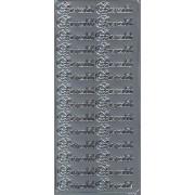Stickers barnedåb sølv 6679