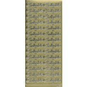 Stickers indbydelse guld 6672