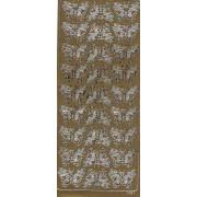 Stickers sommerfugl guld 1631