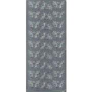 Stickers sommerfugl sølv 1631