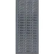 Stickers tillykke sølv 6686