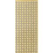 Stickers blomsterhoveder guld 0208