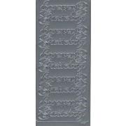 Stickers gæstebog sølv 7027