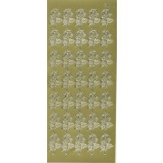 Stickers små roser guld 200