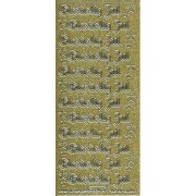 Stickers glædelig jul glitter guld/sølv 660