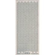 Stickers små stjerner glitter transparent sølv 7056