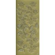 Stickers roser guld 4124
