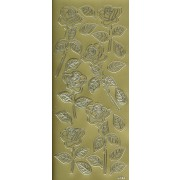 Stickers roser guld 4125
