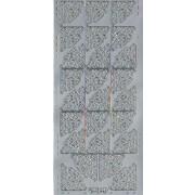 Stickers hjørner sølv 400